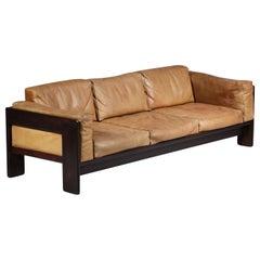 3 Seater Leather Sofa Model Bastiano by Italian Designer Tobia Arfa Scarpa