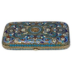 Russian Silver-Gilt and Cloisonne Enamel Box