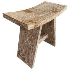 Andrianna Shamaris Cerused Teak Wood Bench