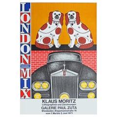 1970s Poster for Klaus Moritz London Mix Exhibition Pop Art