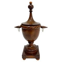 Dutch small 19th Century wooden lidded wool basket