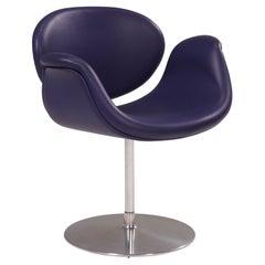 Artifort by Pierre Paulin Little Tulip Purple Leather Swivel Chair, 1960's