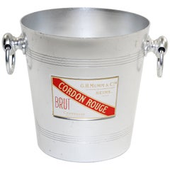 Vintage French G H Mumm Cordon Rouge Reims Champagne Ice Bucket Cooler