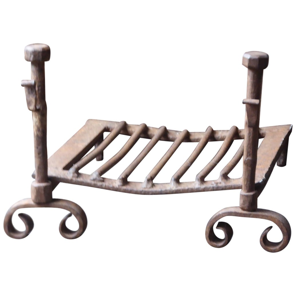 18th Century French Fire Grate, Fireplace Grate