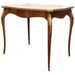 Louis XV Style Marble Top Side Table