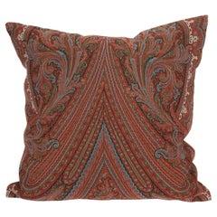 Antique Paisley Shawl Pillow, 19th C.