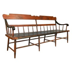 Antique 19th Century Painted Country Bench