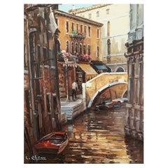 """Vedute of Chenu Lucien """"Venice View"""""""