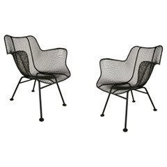 Pair of Vintage Sculptura Lounge Chairs by Russell Woodard