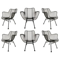 Set of Six Vintage Sculptura Lounge Chairs by Russell Woodard