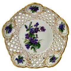 Meissen Porcelain Reticulated Basket, c. 1880