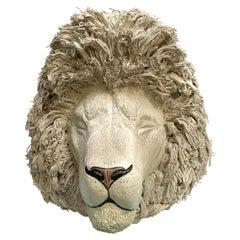 White Lion, Ceramic Centerpiece, Handmade Design in Italy, 2021