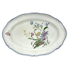 Blue, White, Yellow and Magenta Floral Platter