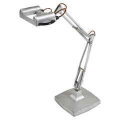 1940s Anglepoise Steel Industrial Lamp 1431 by Herbert Terry & Sons Ltd, England