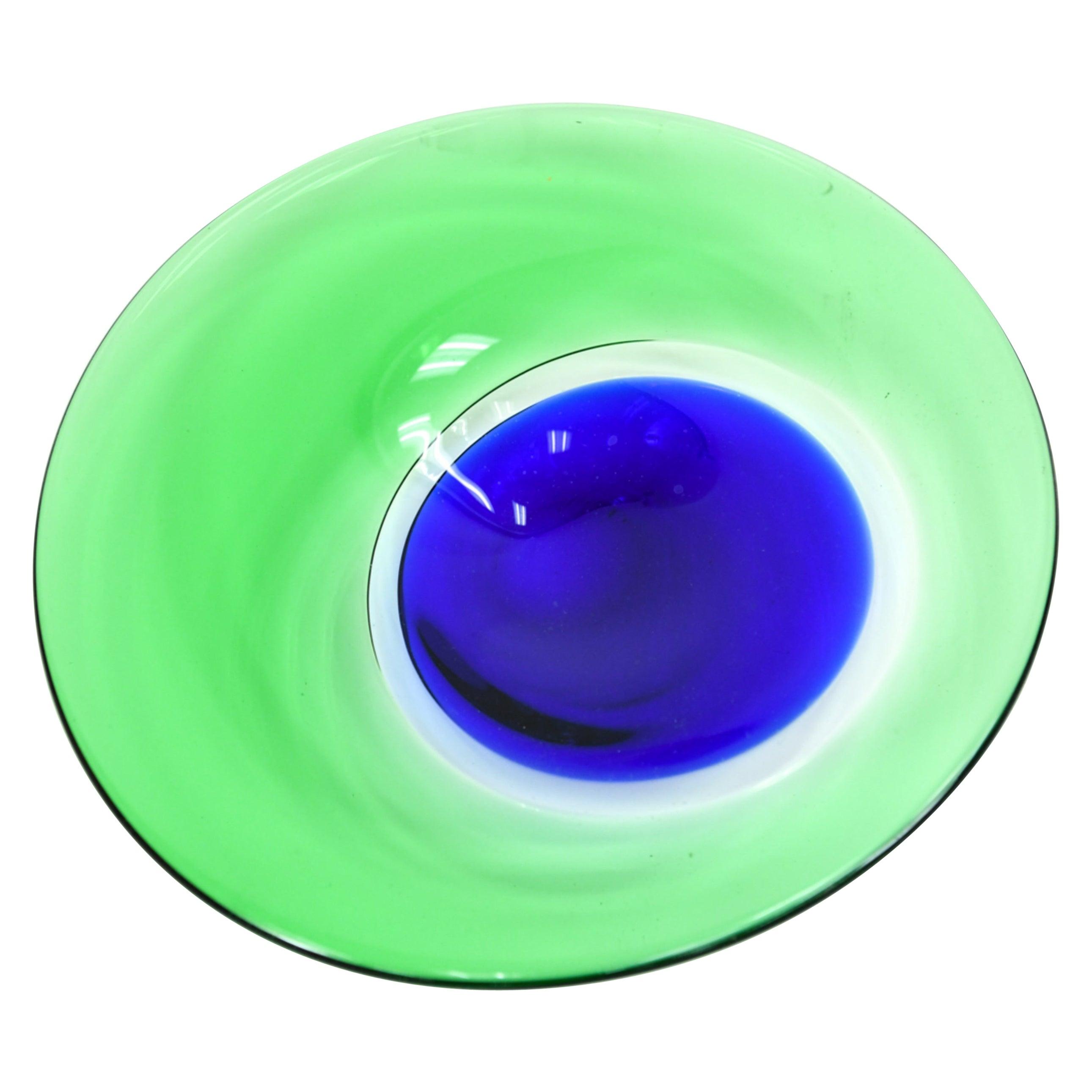 Large Murano Art Glass Centerpiece Bowl