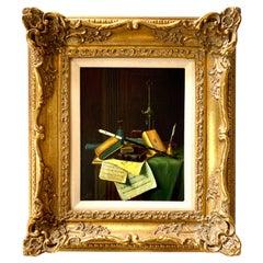 Small Still Life Dutch School Oil Painting