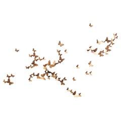Butterfly Wall Sculpture, Horizontal Flight, Large
