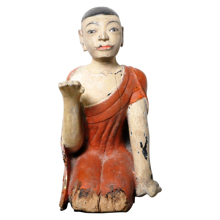 Figure of a Thai Monk For Sale