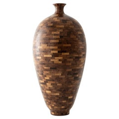 Stacked Small Walnut Vase, by Richard Haining, Available Now