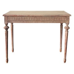 Early 19th Century Swedish Gustavian Period Freestanding Console Table