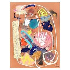 "Amanda Pendarvis Abstract Mixed Media on Canvas, ""David Byrne's Mind"", 2020"