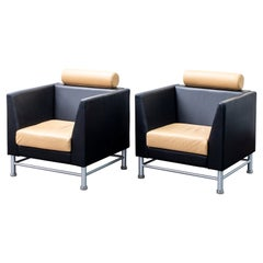Ettore Sottsass for Knoll Postmodern 'East Side' Armchairs