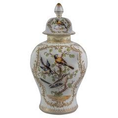 Large German Porcelain Covered Vase, Circa 1890