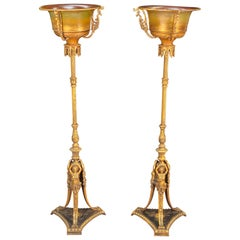 Pair of Neoclassical Plant Stands