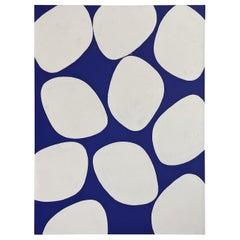 Mark Humphrey Original Blue and White Circles Acrylic on Canvas