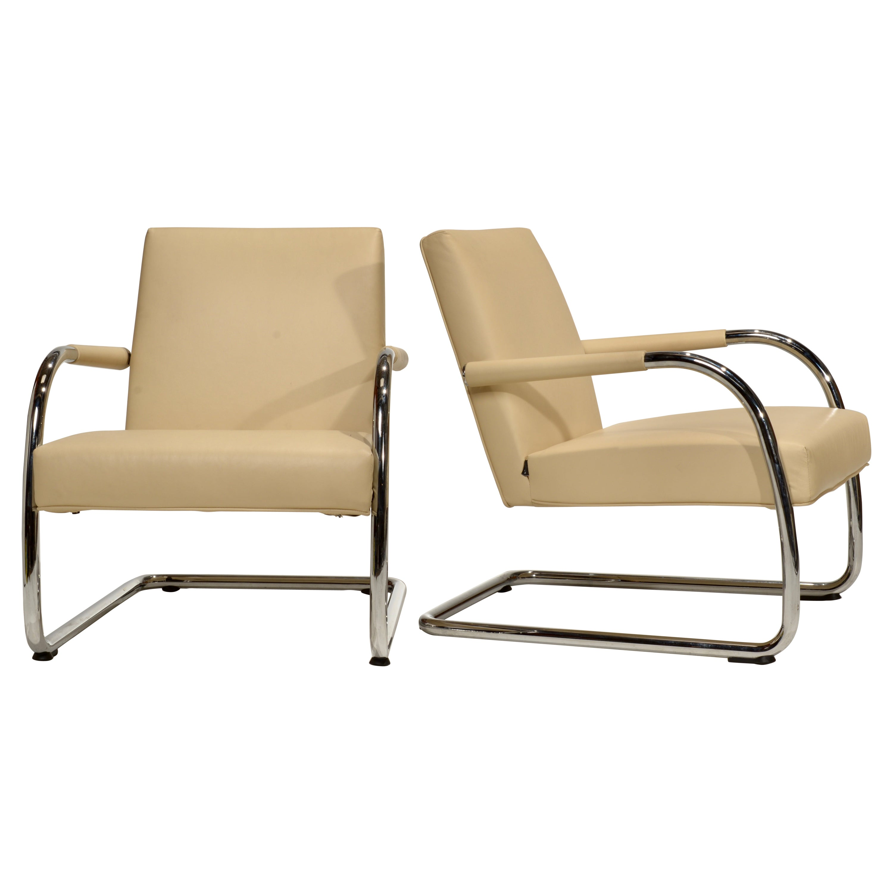 """""""Visa Lounge"""" Leather Lounge Chairs by Antonio Citterio for Vitra"""