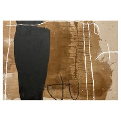Untitled, 2021 Large Brown, Black & White Abstract Painting by Meighan Morrison