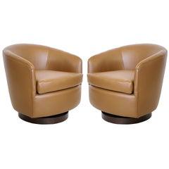 Milo Baughman for Thayer Coggin Tilt & Swivel Lounge Chairs