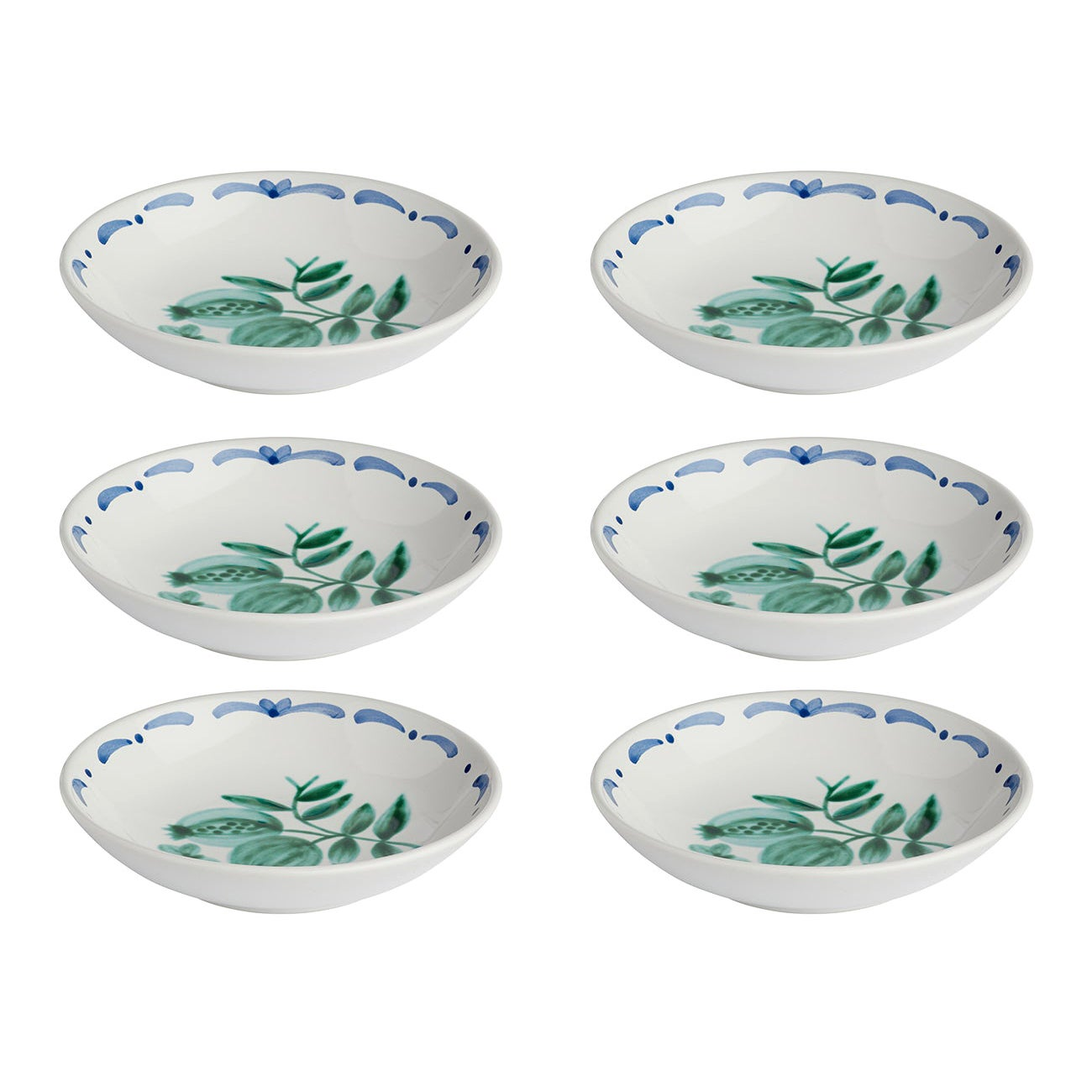 Set of Six Hand-Painted Ceramic Dishes Sofina Boutique Kitzbühel Austria