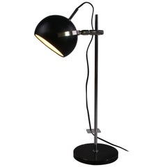 Black Metal Adjustable Desk Lamp from Denmark