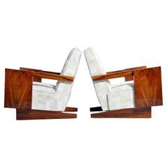 Pair of Hungarian Mid-Century Modern Armchairs