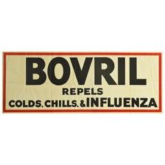Original Vintage Poster Bovril Repels Colds Chills & Influenza Beef Drink Food
