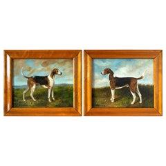 Paintings of a Pair of Gun Dogs, Richard Dodd Widdas, 1826-1885