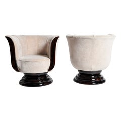 Pair of Tulip Shaped Armchairs