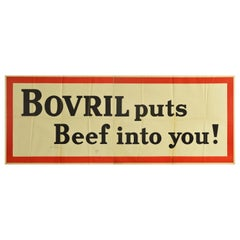 Original Vintage Poster Bovril Puts Beef Into You Advert Hot Drink Food Flavour