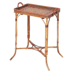 Bamboo and Rattan Serving Stand or Bar