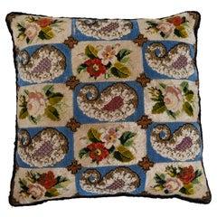 Victorian Beadwork Pillow, Mid 19th C