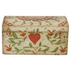19th Century French Folk Art Wedding Box from Normandy