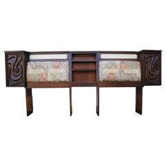 Lacquered Walnut Oceanic Series King Headboard by Pulaski Furniture