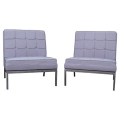 Pair of Armless Lounge Chairs by Florence Knoll for Knoll