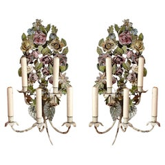 Pair of French Tole Sconces