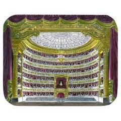 Piero Fornasetti Large Tray La Scala Opera House Painted by Hand