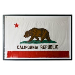 Vintage Fabric California State Bear Flag