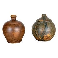 Set of 2 Ceramic Studio Pottery Vase by Gerhard Liebenthron, Germany, 1970s