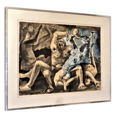 After Pablo Picasso, Lithograph with Pochoir, Bacchanal 1955