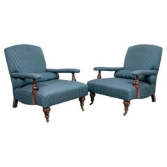Pair of Vintage Edwardian Chairs by George Smith
